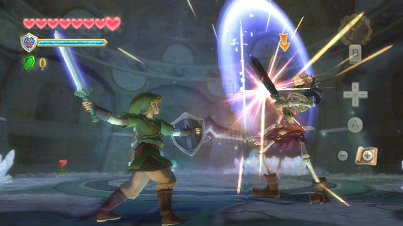 """Link kämpft gegen einen Skelettritter in """"The Legend of Zelda: Skyward Sword""""."""