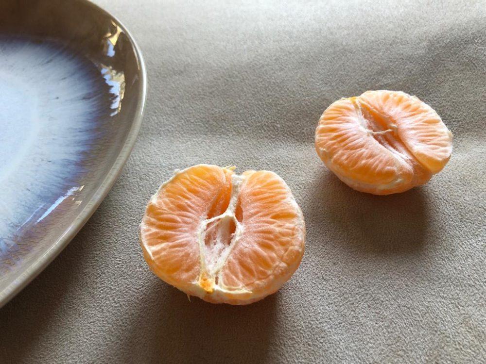 Mandarinen auf Polster