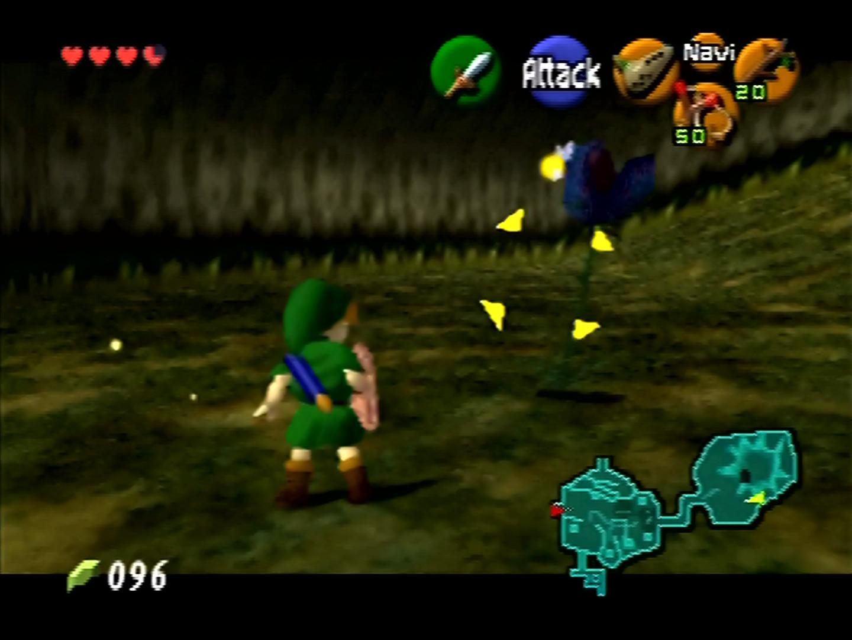 Link kämpft gegen eine fleischfressende Pflanze.