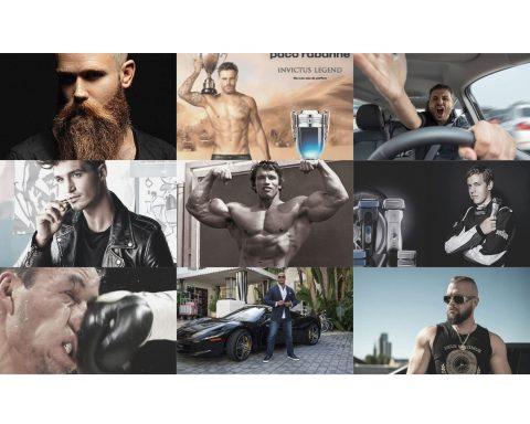 Collage von Männerkörpern