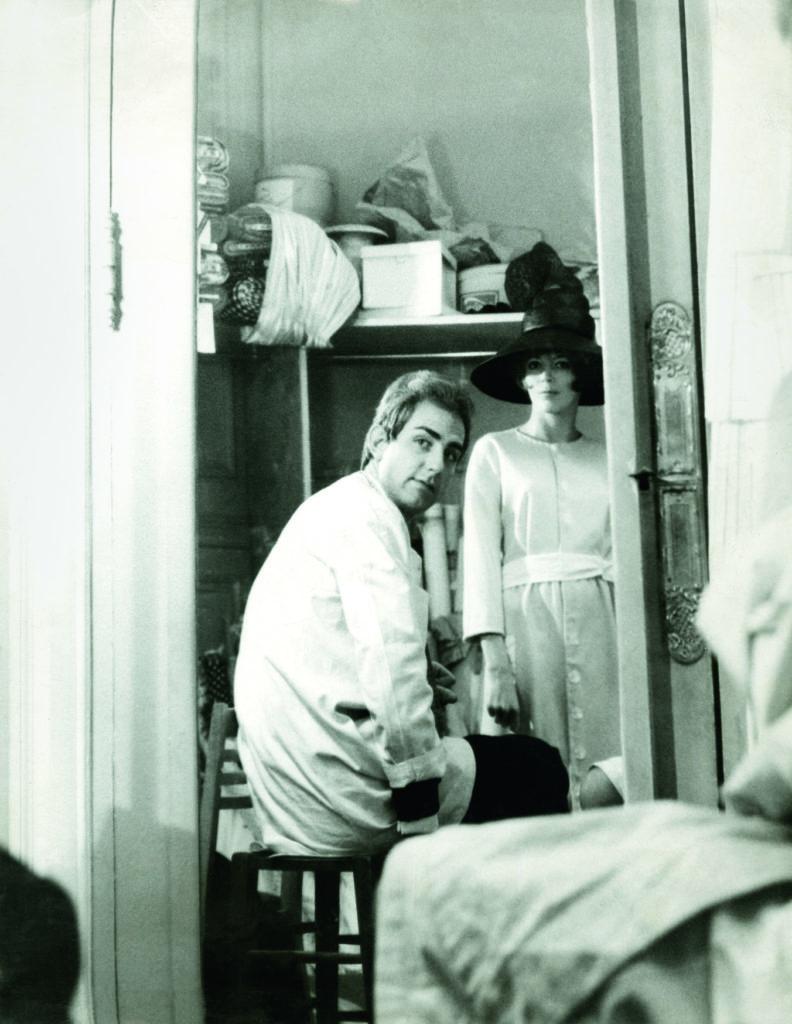 1962 - Yorn und sein Starmannequi Sigolène / Foto: Yorn Privatbesitz / © Diogenes Verlag