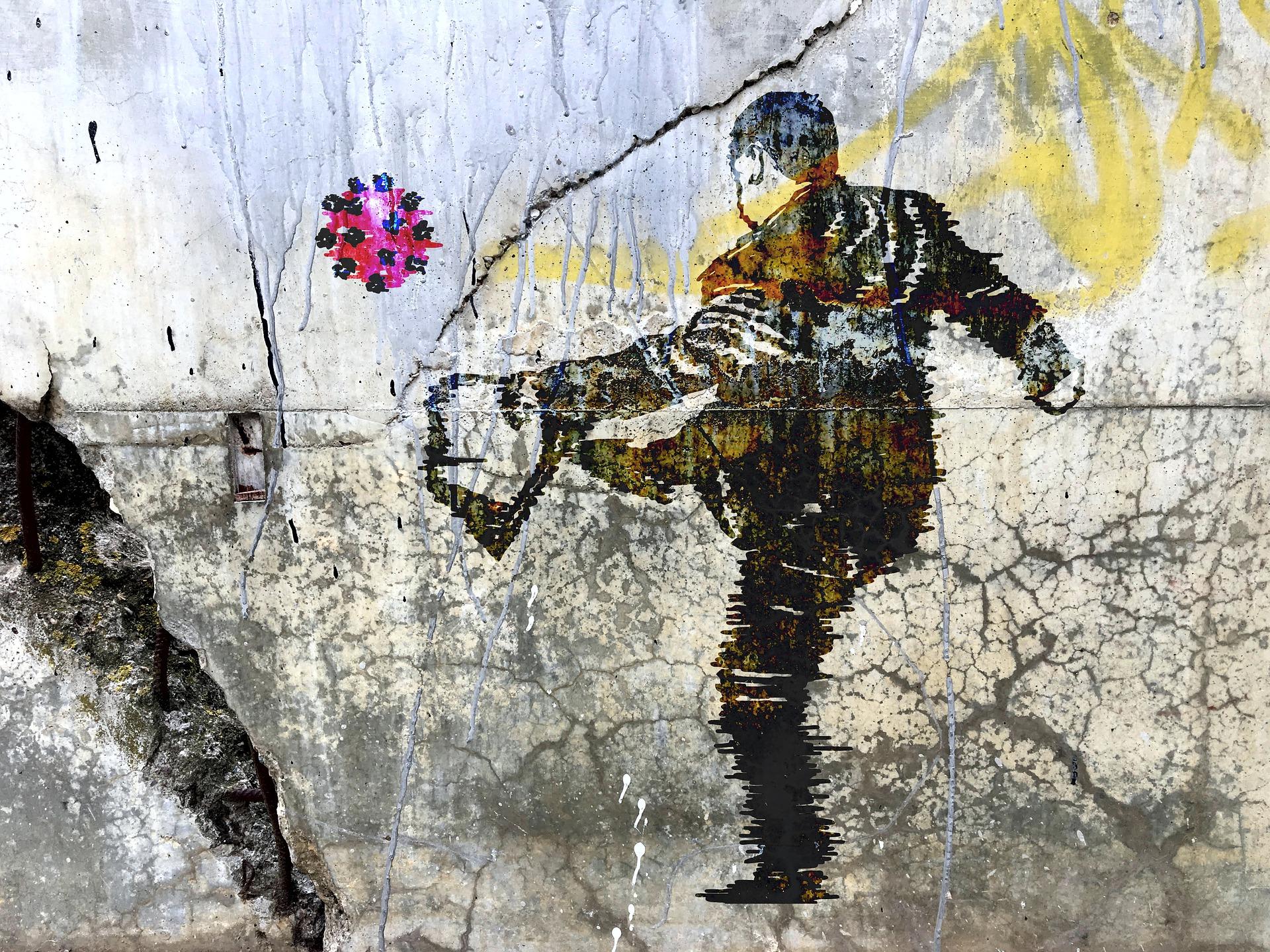 Graffiti Mann Corona