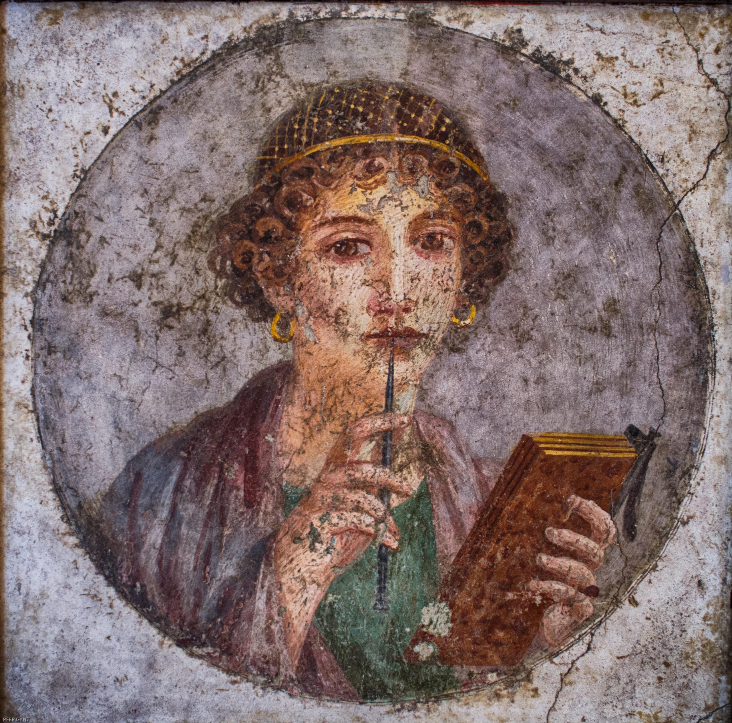 Ancient fresco Sappho